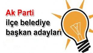AK PARTİ İlçe Belediye Başkan Adayları